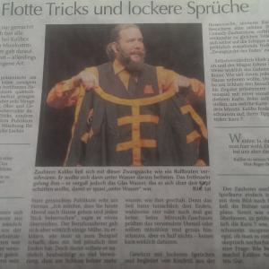 Presseartikel Amberger Zeitung - Comedy-Magic